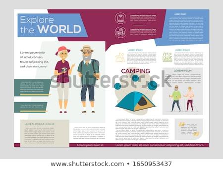 старший люди красочный вектора брошюра Сток-фото © Decorwithme