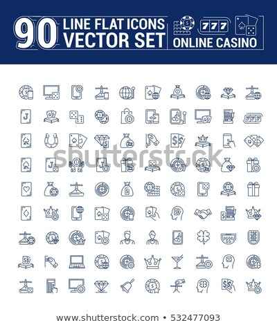 Betting Phone Gambling Icon Vector Illustration Stock photo © pikepicture