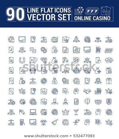 Fogadás telefon hazárdjáték ikon vektor vékony Stock fotó © pikepicture