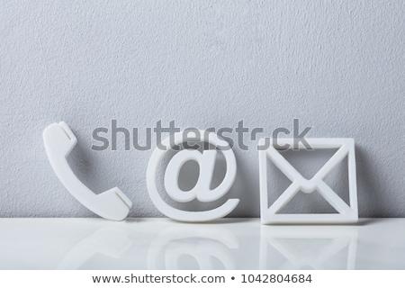 телефон электронная почта пост иконки Сток-фото © AndreyPopov