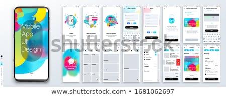 Diseno aplicación Slide línea comunicación vector Foto stock © robuart