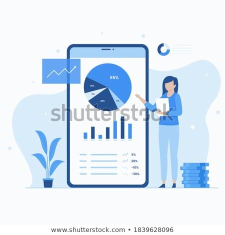Portfolio income concept landing page. Stock photo © RAStudio