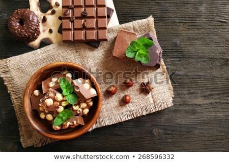 Still life of hazelnut and milk chocolate Stock photo © grafvision
