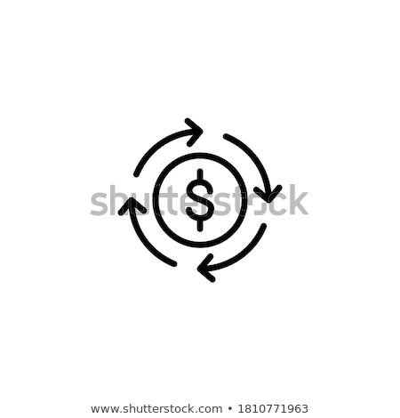 cash flow icon vector outline illustration Stock photo © pikepicture