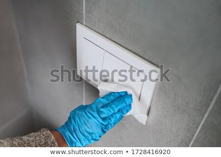 Surface maison mur bouton bureau Photo stock © Maridav