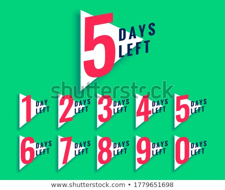 number of days left countdown template in triangle style Stock photo © SArts