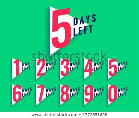 Aantal countdown sjabloon driehoek stijl business Stockfoto © SArts