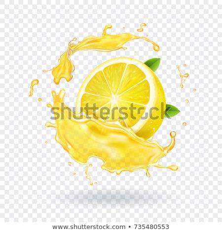 Limon su yüzeyi siyah doku gıda Stok fotoğraf © angelsimon