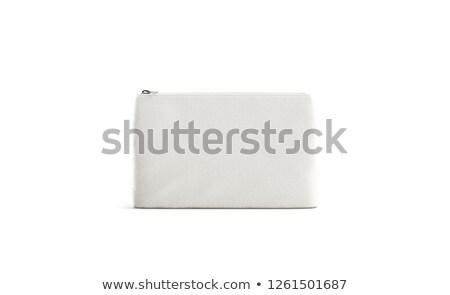 Stock photo: Beige zip on bag