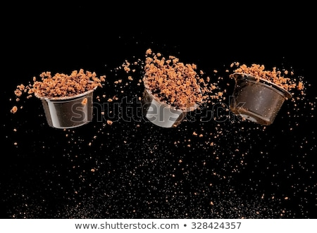 Pods of freshly ground coffee  Stock photo © homydesign