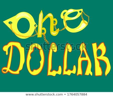 Dollar Chains On Orange Background stock photo © adamr