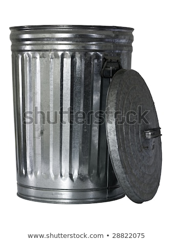 old metal trashcan stock photo © klodien