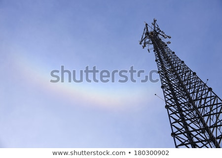 Self support tower and the rainbow Stock photo © benkrut