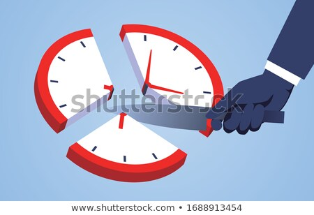 manual worker pointing to clock stock photo © photography33