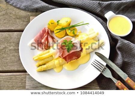 Asparagus with Ham and Potatoes Stock photo © ildi