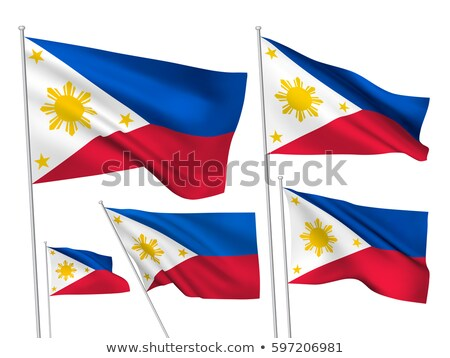 Political waving flag of Philippines Stock photo © perysty