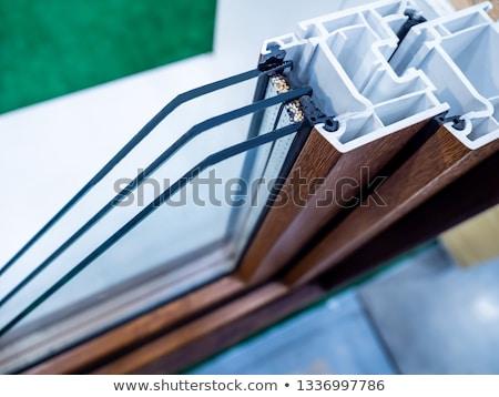 plastik · pencere · renk · yalıtılmış · beyaz · inşaat - stok fotoğraf © arlatis