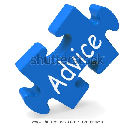 advice puzzle shows assistance and guidance stock photo © stuartmiles