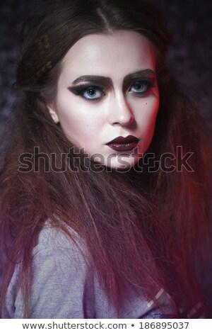 schoonheid · meisje · naar · vol · kleur · make-up - stockfoto © carlodapino
