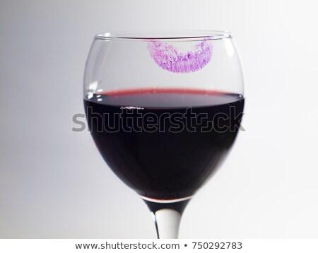 Red Wine and Lipstick Stock photo © nailiaschwarz