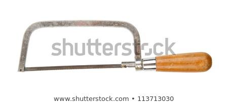 very old small iron metal saw stock photo © michaklootwijk