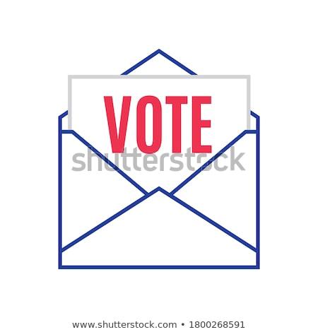 Résumé bleu mail icône internet travaux Photo stock © rioillustrator