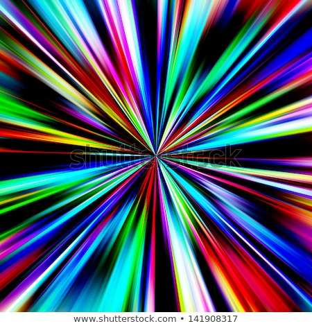 Multicolored diagonal bands converging in a pinpoint. Stock photo © latent
