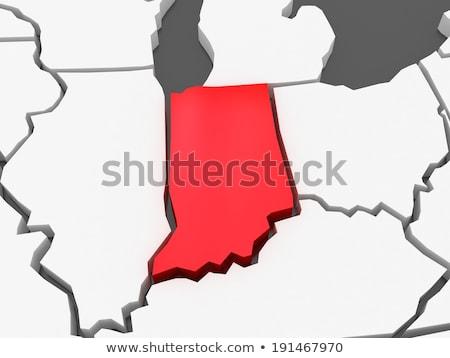 Stok fotoğraf: Indiana · 3D · ayarlamak · simgeler · dizayn