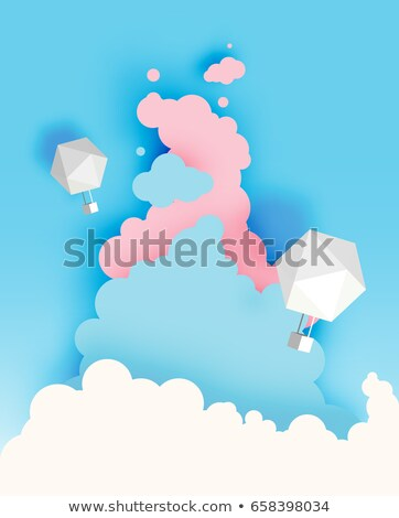 Cut out cloud, blue paper  Stock photo © smeagorl