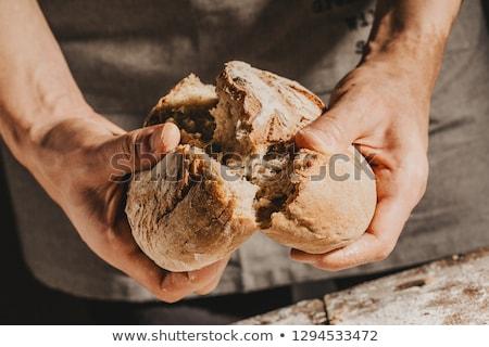 Mani pane foto alto contrasto alimentare Foto d'archivio © Massonforstock
