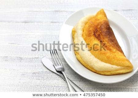 Stock fotó: Fluffy Omelet