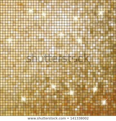 Amazing template design on gold glittering. EPS 10 Stock photo © beholdereye