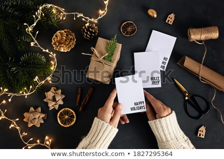 Elegante reciclado etiquetas establecer ambiental suave Foto stock © Allegro