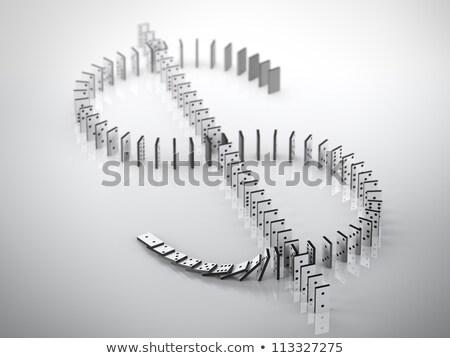 Сток-фото: доллара · символ · Domino · белый · деньги