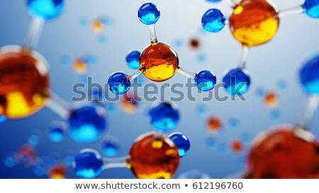 分子の 薬 導入 赤 黒 原子 ストックフォト © grechka333