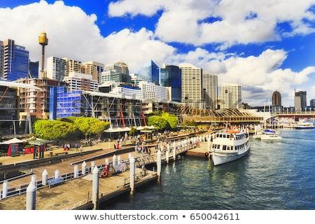 Porto Sydney Austrália linha do horizonte edifício urbano Foto stock © travelphotography