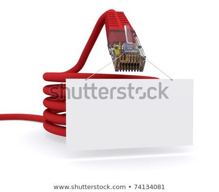 Rede cabo comprimido telefone tecnologia Foto stock © cherezoff