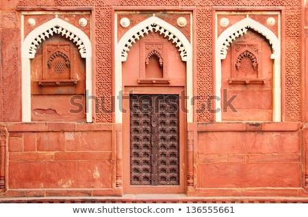 building fragment with door in India Stock photo © Mikko
