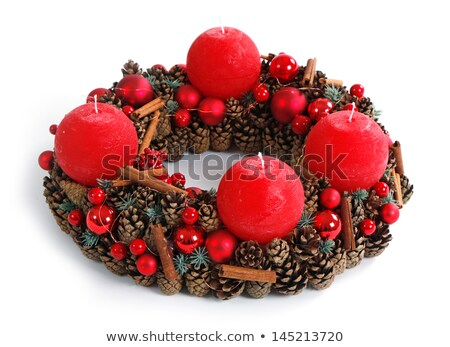 Détail coup avènement couronne sauvage champignons Photo stock © w20er