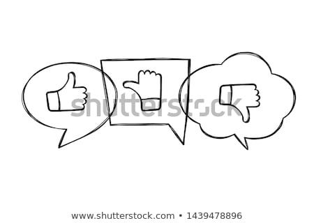 sketched like unlike icon stock photo © shawlinmohd