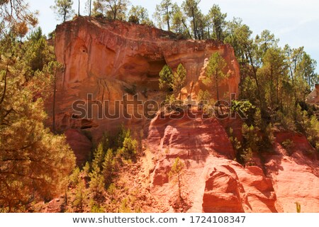 Red Cliffs in Roussillon Stock photo © vwalakte