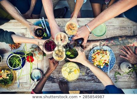 Saudável alimentos orgânicos fresco bandeira benefícios Foto stock © designsstock