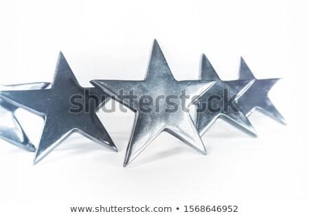 Star ödül yalıtılmış beyaz duvar dizayn Stok fotoğraf © inxti