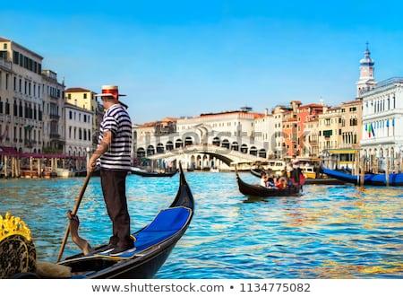 麦わら帽子 ボート ヴェネツィア 赤 ストックフォト © mikdam