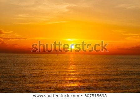 Sun set at Andaman sea in Southern Thailand Stock photo © sundaemorning