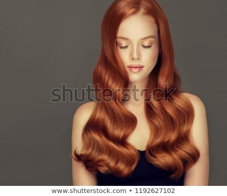 portret · schoonheid · lippen · goud · huid · wind - stockfoto © zastavkin