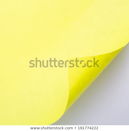 Stock photo: Open conner of yellow paper