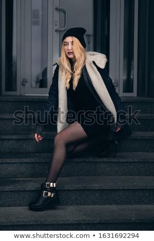 Preto fetiche sapatos colar isolado branco Foto stock © Elisanth