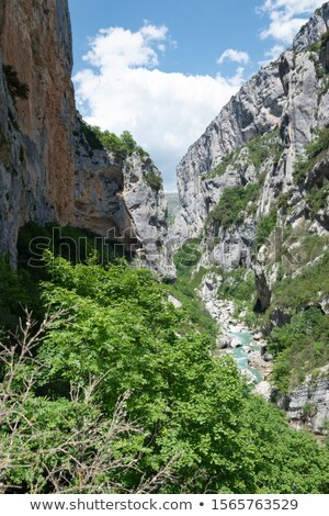 valley of river Verdon in spring, Provence, France Stock photo © phbcz