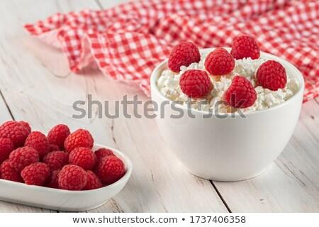 Raspberries and Curd Stock photo © Kayco